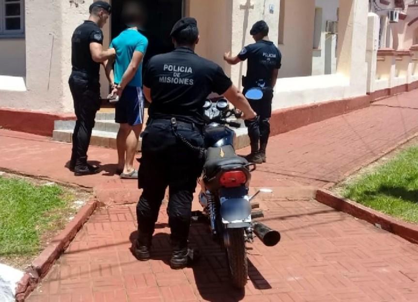 Interceptaron a sujeto que robó una moto en elhospital