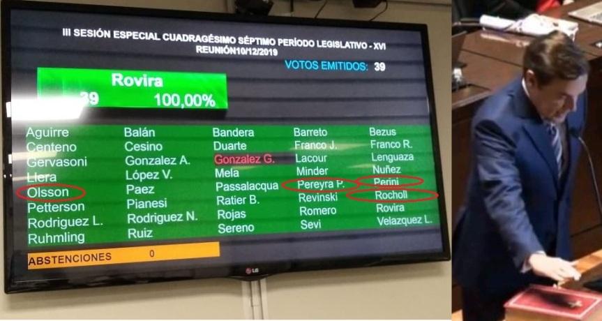 Rocholl, Perini, Pigerl y Olsson votaron aRovira