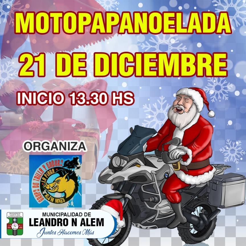"""Papanoelada"" solidaria: motociclistas entregarán juguetes en barrios deAlem"