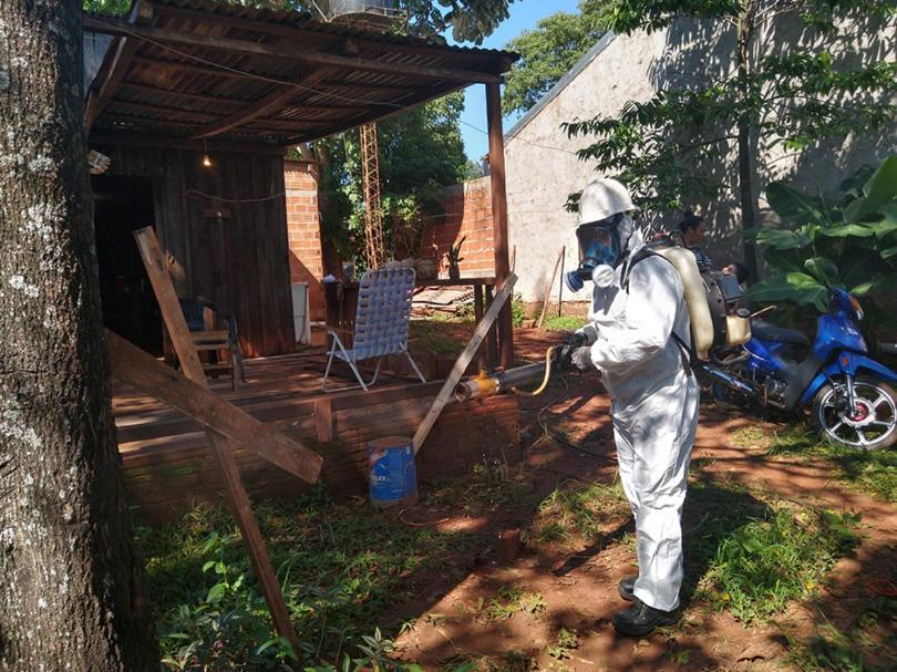Dengue: Realizan descacharrado y fumigación en los distintos barrios deAlem