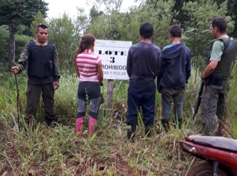 Tres cazadores fueron sorprendidos en la reserva Yabotí, secuestraron escopetas ycartuchos