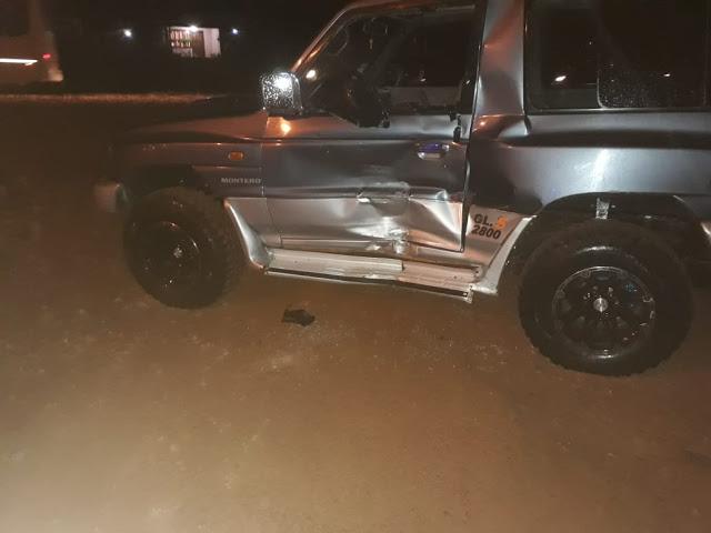 Motociclista chocó contra una camioneta en la ruta14