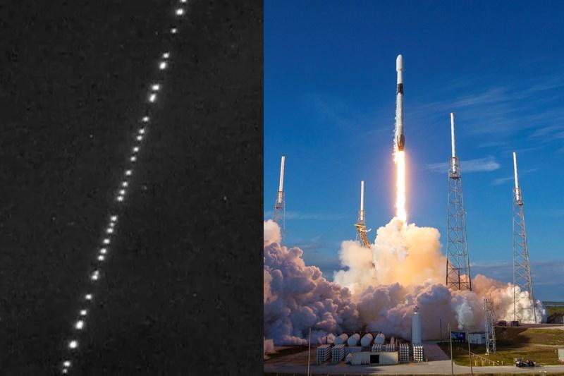 """SpaceX: Las """"extrañas"""" luces alineadas en el cielo eran 60 satélites lanzados para internet de altavelocidad"""