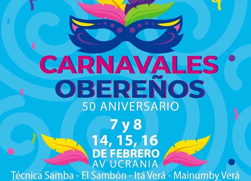 Esta noche comienzan los carnavales obereños 50ºAniversario