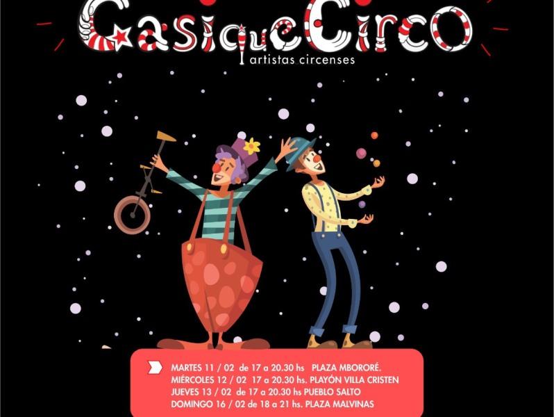 """Hoy inicia """"El Circo en tu barrio"""" con Casiquecirco en plazaMbororé"""