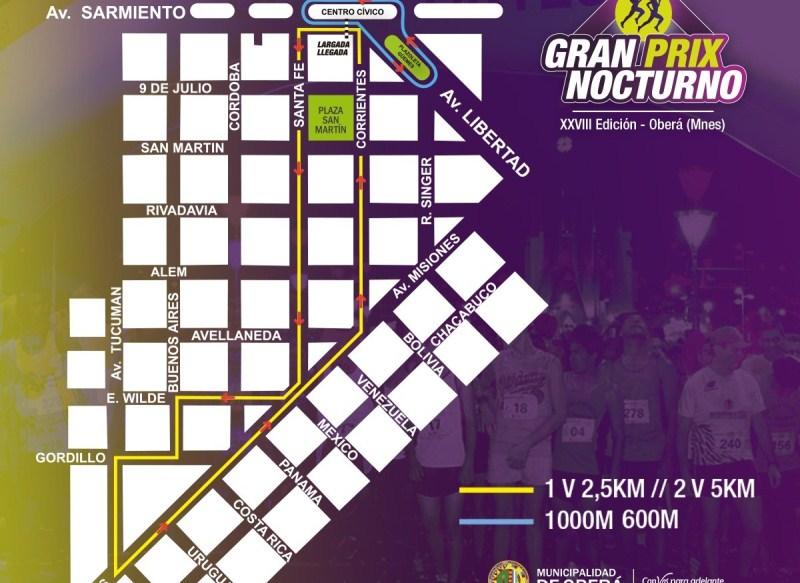 Circuito e inscripciones para la XXVIII edición del Gran PrixNocturno
