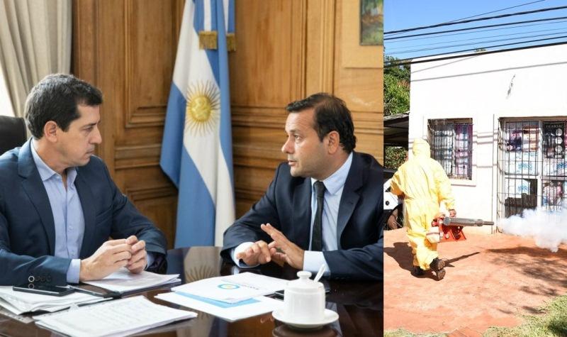 """Herrera habló con Wado de Pedro sobre """"Oberá capital alterna"""" y le pidió fondos para eldengue"""