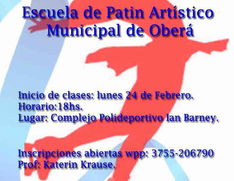 Inician las clases de Patín ArtísticoMunicipal