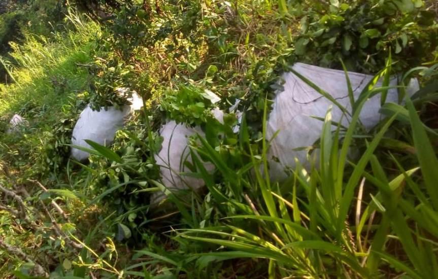 Sorprendieron a cinco sujetos con una tonelada de yerba robada de unachacra