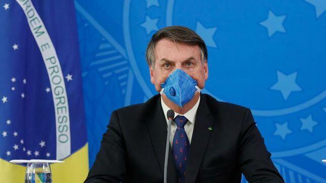Covid-19: Bolsonaro diopositivo