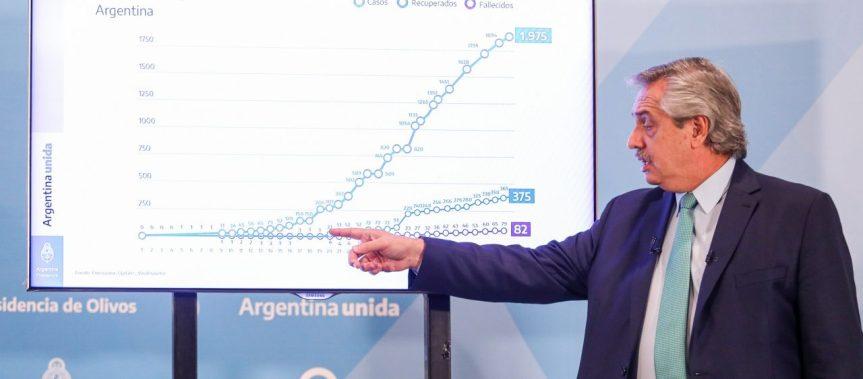 Según una encuesta, 56% de los argentinos aprueba la gestión económica de Fernández durante lapandemia