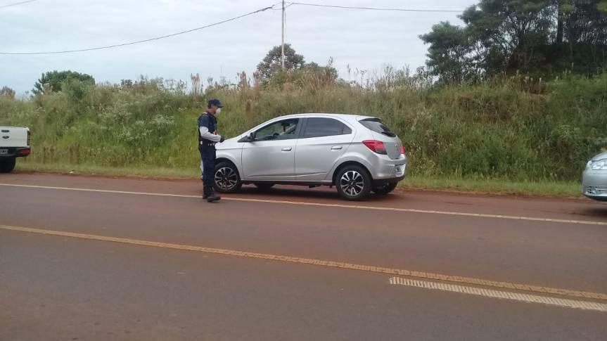 Cuatro conductores multados por circular en la ruta 14 sinjustificación