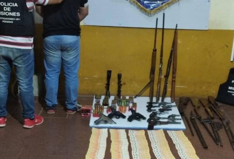 Secuestraron un arsenal en el marco de una causa por robo dearmas