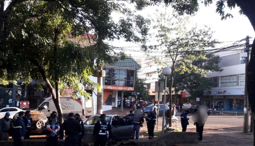 Choque en Corrientes y 9 de Julio dejó una personaherida