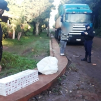 Contrabandistas de cigarrillos intentaron huir pero fueron atrapados en Picada Sarmiento y San Martín