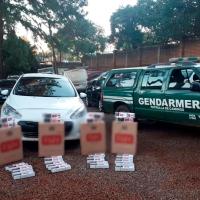 Dos contrabandistas detenidos y ocho mil paquetes de cigarrillos ilegales secuestrados