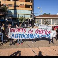 """Protestas en varias localidades: """"Al docente no le alcanza, necesitamos recomponer nuestro salario, estamos trabajando mucho más ahora"""""""