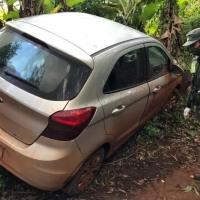 Narco chocó contra una plantación de bananas tras huir de un control