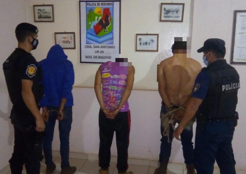 Tres detenidos por el robo en una vivienda de ParajeBarbacuá