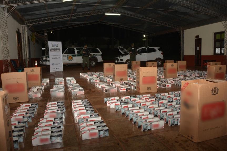 Hallaron una camioneta con 8.500 paquetes de cigarrillos valuados en 1.105.000pesos