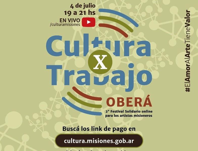 Cultura x Trabajo se presenta este sábado enOberá