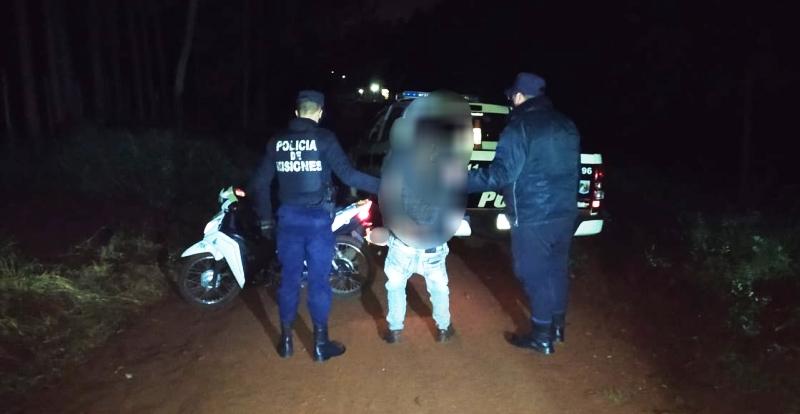 Lo capturaron con una moto robada frente a una empresa demotomandados