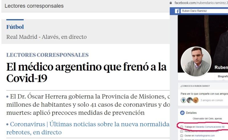 Operación: Nota alabando a Herrera Ahuad en un diario español fue escrita por un funcionarioRenovador