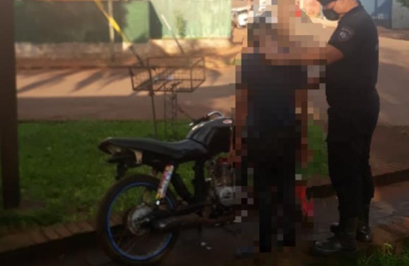 Adolescente circulaba en Cien Hectáreas con una moto robada enAlem