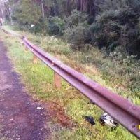 Motociclista fue embestido por un vehículo en la ruta y está grave