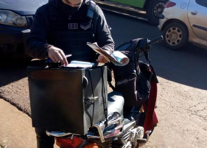 Cinco motos retenidas y siete personas notificada por no usarbarbijos