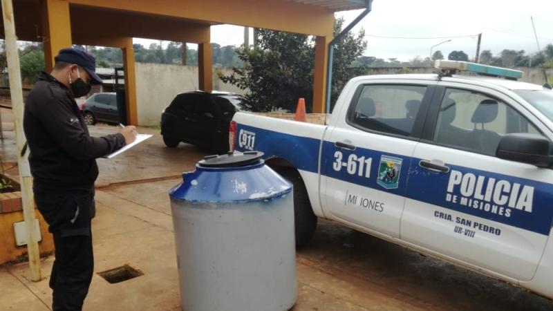Recuperaron un tanque de agua robado a la Escuela N°904