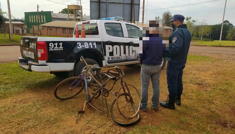 Hallaron dos bicicletas robadas escondidas entre lasmalezas