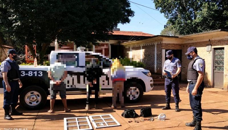 Tres detenidos por el robo de ventadas y herramientas en Alberdi y CampoViera