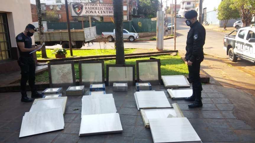 Hallaron cerámicos y ventanas robadas en unaconstrucción