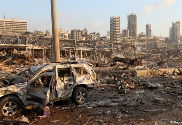 La embajada argentina también fue destruida por la explosión que dejó unos 70 muertos en la capitallibanesa