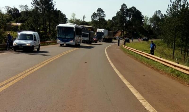 Un peatón fue chocado en la Ruta Nacional14