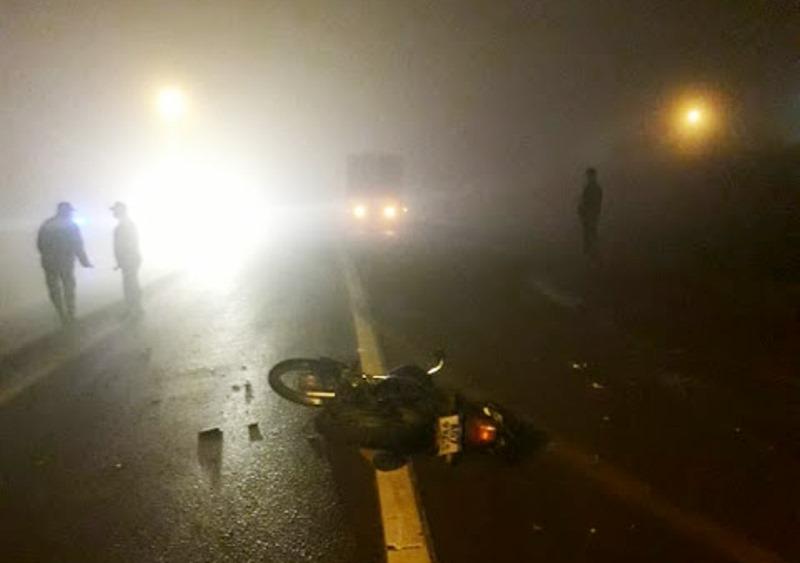 Motociclista impactó contra la parte trasera de un camión en la ruta14