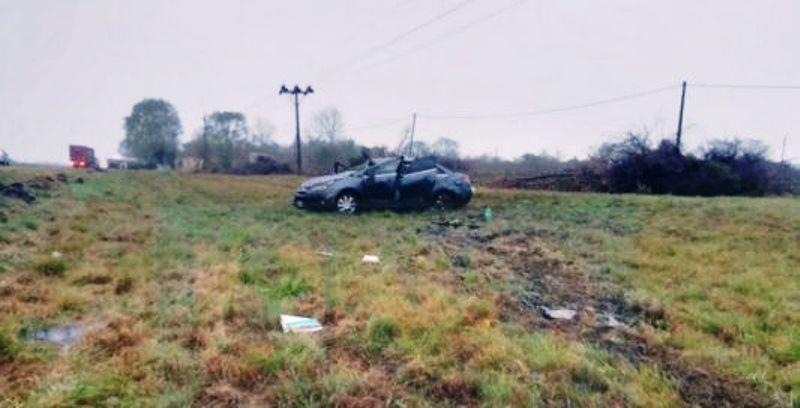 Familia misionera se accidentó en Entre Ríos y una beba estágrave