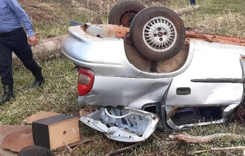 Tres personas resultaron lesionadas tras despiste en la ruta9