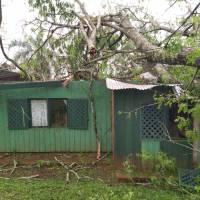 Ciclón destruyó una escuela y destechó casas en Alba Posse y San Vicente