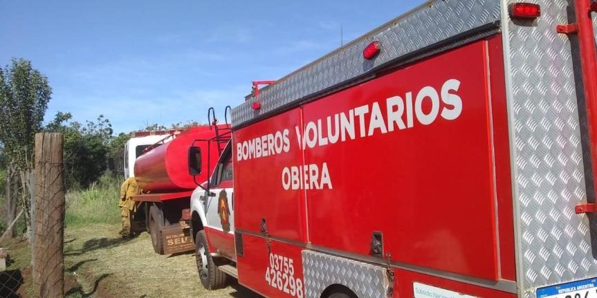 Bomberos asistieron con agua potable a barrios periféricos afectados por el paro demunicipales