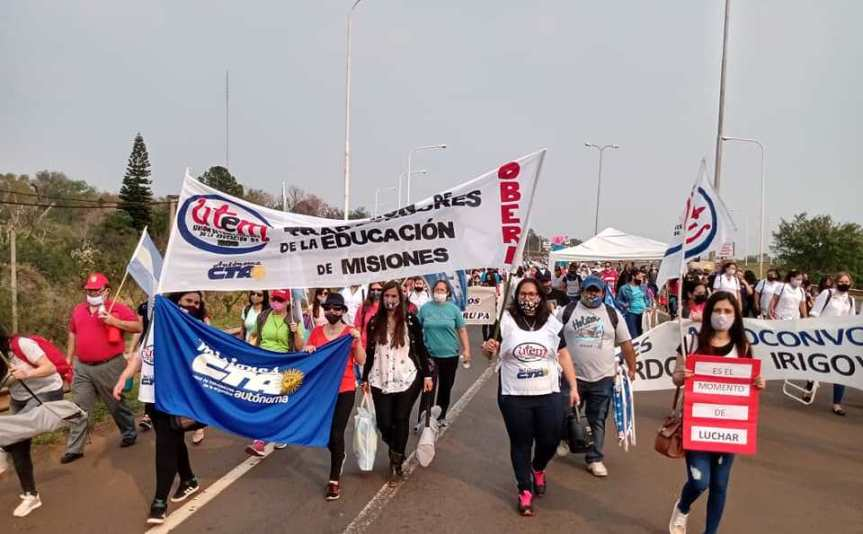 """Docentes acamparán en Posadas: """"vamos al corazón del poderpolítico"""""""