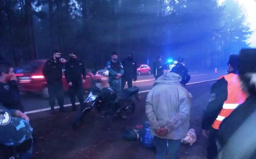 Interceptaron a un motociclista con más de 20 kilos demarihuana