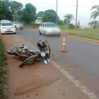 Motociclista despistó en la rotonda del Parque de las Naciones