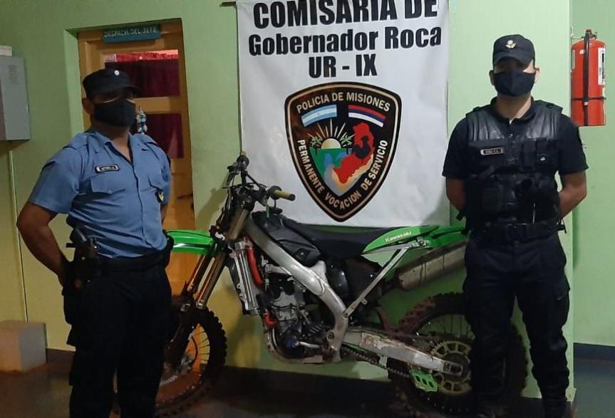 Secuestraron en Roca una moto robada enOberá