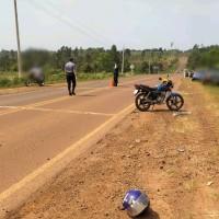 Motociclista herido tras despistar en la ruta 5