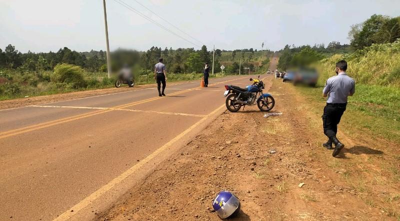 Motociclista herido tras despistar en la ruta5