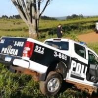 Una patrulla despistó durante una persecución