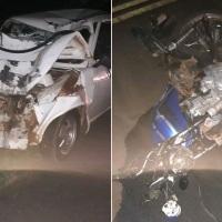 Choque en la ruta 103 dejó un motociclista herido