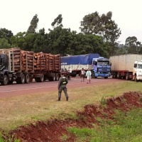 Manifestantes desobedecieron orden judicial y mantienen el corte de ruta en San Vicente